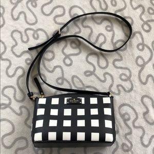 Kate Spade Black Checkered Print Crossbody